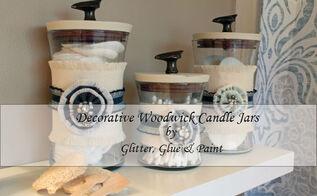 decorative bathroom storage, bathroom ideas, storage ideas, An easy way to decorate with Woodwick Candle Jars