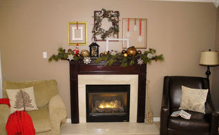 my holiday home tour, seasonal holiday d cor, My mantel cost me a total of 1 to put together