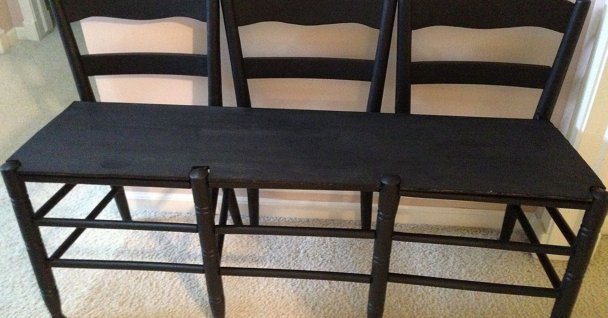 Make A Bench Out Of 3 Chairs Hometalk