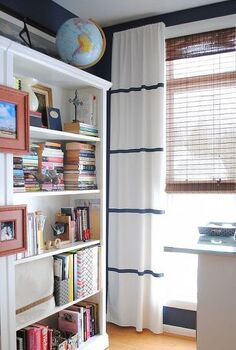 how to hem no sew and add stripes to curtains using paint, crafts, painting, window treatments, windows