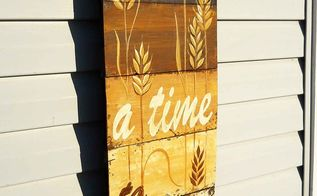 handpainted fall wheat door hanging, painting, pallet, seasonal holiday decor