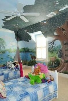 molly s big tree, bedroom ideas, home decor, painting, Tree mural in Atlanta