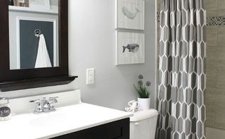 shared boys guest bathroom, bathroom ideas, home decor, The finished bathroom