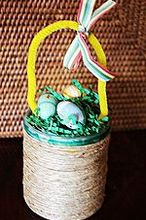 love2repurpose treat basket favors for granddaughter s easter party, crafts, Remove lid to find favors