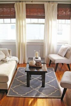 how to make pottery barn like linen curtains, home decor, living room ideas, window treatments, windows, After With the new curtains