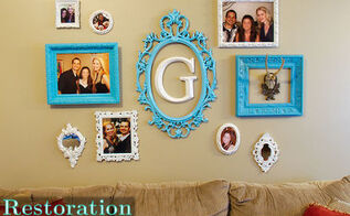 easy photo frame gallery wall tutorial, home decor, wall decor, Gallery Wall Reveal