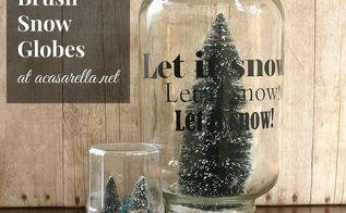 bottle brush snow globes, christmas decorations, crafts, repurposing upcycling, seasonal holiday decor, These DIY snowglobes will make a fun centerpiece on my dining room table