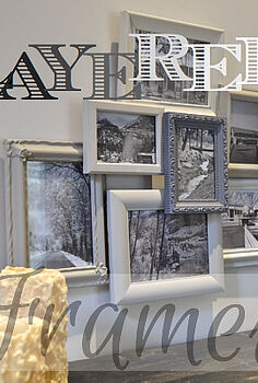 layered frames, crafts, home decor, repurposing upcycling, Layered Frames
