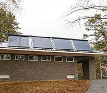 solar thermal installed at tugaloo state park comfort station 2 it provides hot, go green, TUGALOO STATE PARK SOLAR INSTALLATION