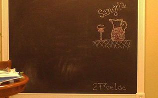 kitchen chalkboard so easy, chalkboard paint, crafts, kitchen design, paint colors, wall decor