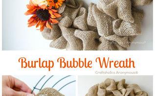 diy project of week fall burlap bubble wreath tutorial, crafts, seasonal holiday decor, wreaths, Photo courtesy of