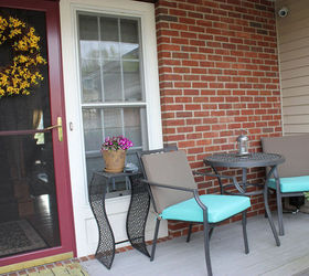 Small Front Porch Transformed With A Patio Bistro Set From Target, Outdoor  Furniture, Outdoor