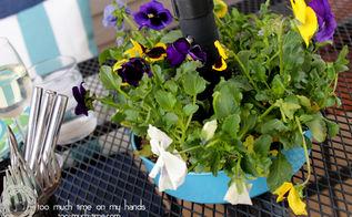bundt pan umbrella planter tutorial, flowers, gardening, repurposing upcycling