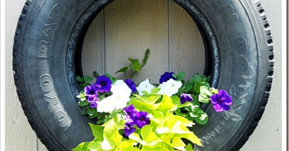 Hanging Flower Baskets Canadian Tire : Tire planters hometalk