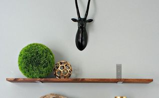 diy industrial shelves in 20 minutes, home decor, shelving ideas, diy modern industrial shelves