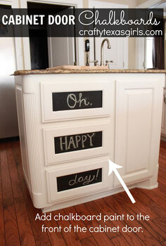 chalkboard cabinet drawers and doors, chalkboard paint, kitchen cabinets, painting