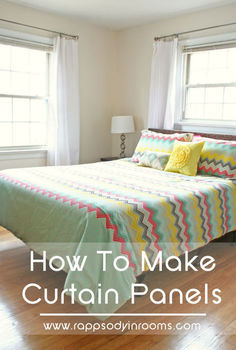 how to make easy curtain panels, bedroom ideas, diy, home decor, reupholster, wall decor, window treatments, windows
