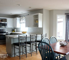 from oak to awesome painted gray and white kitchen cabinets, kitchen design, painting