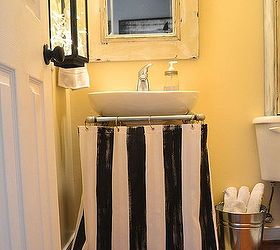 Good Make A Pedestal Sink Skirt From A Shower Curtain, Bathroom Ideas, Crafts,  ...