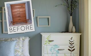 diy decal dresser, painted furniture