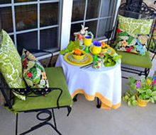 celebrating spring table, easter decorations, seasonal holiday d cor, Spring tablescape