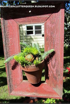 framing succulents, flowers, gardening, succulents, This is my copycat I put a nail in the bottom part of the frame leaving half of the nail sticking out to insert in the terra cotta pot hole to balance it on the frame
