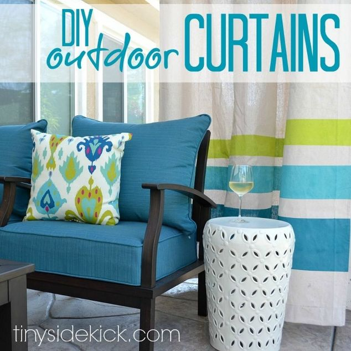 Curtains Ideas cheap patio curtains : DIY Drop Cloth Outdoor Patio Curtains | Hometalk