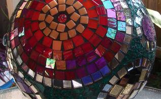 mosaic gazing ball, crafts, View of gazing ball
