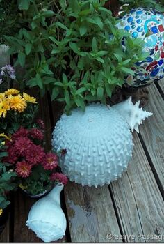 cement garden ball, crafts