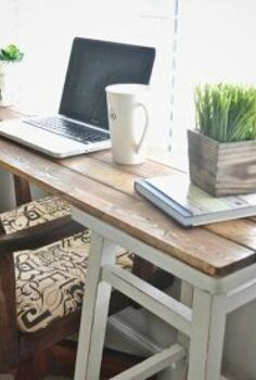 diy barstool desk, diy, painted furniture, repurposing upcycling