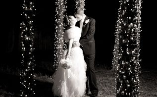 photoshoot ready diy backyard weddings, String Lights via Christmas Lights Etc c o Diana Haynes