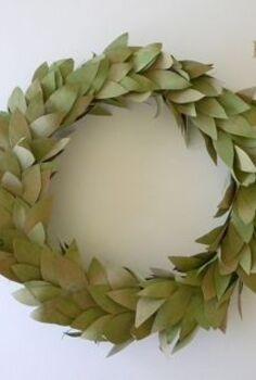 brown bag faux bay leaf wreath, crafts, wreaths
