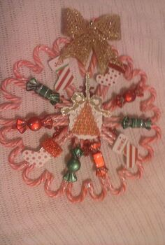 candy cane wreaths, christmas decorations, crafts, seasonal holiday decor, wreaths