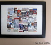 framed sports ticket art, crafts, home decor, Framed sports ticket art Details here