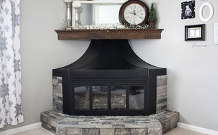 fireplace surround makeover, fireplaces mantels, home decor