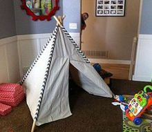 childs teepee made from a drop cloth, crafts, entertainment rec rooms, reupholster