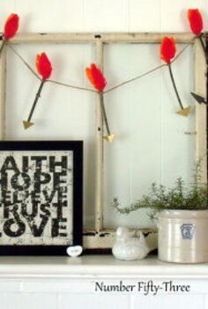 cupid s arrow valentine mantel, seasonal holiday d cor, valentines day ideas