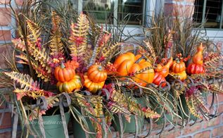 create a fall window box, crafts, curb appeal, seasonal holiday decor