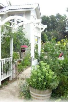 arbor from junk parts, outdoor living, repurposing upcycling