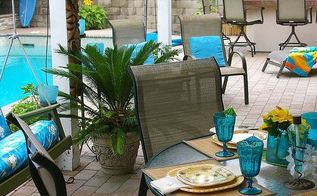 thrifty weekend makeover tropical style, home decor, outdoor living, Now THIS feels like Hawaii