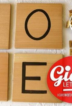 you ll love this giant letter tile tutorial, crafts, make your own versions of letter tiles with my tutorial
