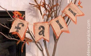 bring the outdoors in with this diy fall tree, seasonal holiday decor