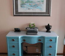 updating an old vanity turned desk with ascp chalkpaint latex, bathroom ideas, home decor, painted furniture, repurposing upcycling