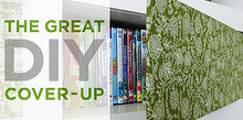 diy fabric panels for your bookshelves, home decor, painted furniture, shelving ideas, Easy DIY Fabric Panels Rather Square