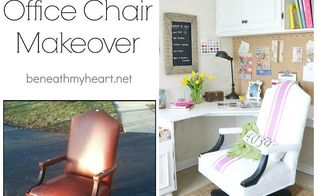diy painted leather chair, painted furniture
