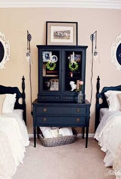 guest bedroom before after with craigslist furniture, bedroom ideas, home decor, painted furniture, AFTER