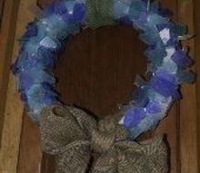 sea glass wreath, crafts, wreaths