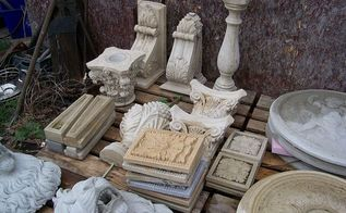 salvaged architectural items, landscape, outdoor living