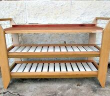 how should i finish this shoe bench, painting, I built this small shoe bench for under 5 using reclaimed wood but I am not sure if I should paint stain or leave it the way it is