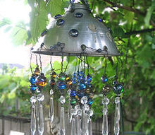 make a repurposed garden chandelier, crafts, repurposing upcycling, This is the first piece of garden art I ever made and it s still my favourite